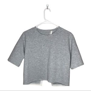 Lululemon Crop Top Minimal Gray Sz 6